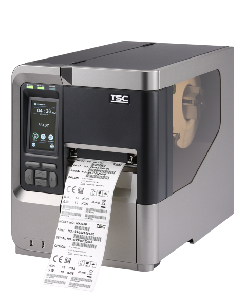 TSC MX640P mit Aufwickelvorrichtung